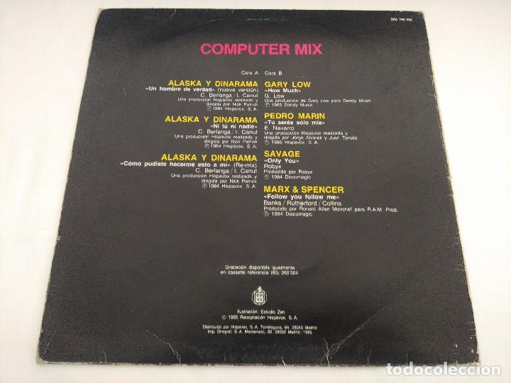 Discos de vinilo: VINILO MAXI/COMPUTER MIX/ALASKA Y DINARAMA. - Foto 4 - 206898633