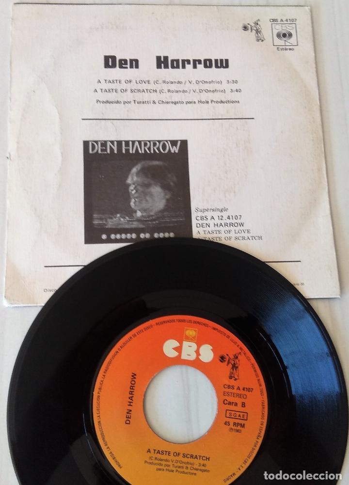 Discos de vinilo: DEN HARROW - A TASTE OF LOVE CBS - 1983 - Foto 2 - 206899907