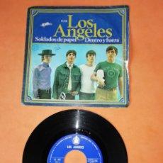 Discos de vinilo: LOS ANGELES. SOLDADOS DE PAPEL. DENTRO Y FUERA. HISPAVOX 1967. Lote 206901543