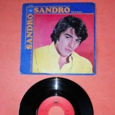 Discos de vinilo: SANDRO. SE TE NOTA. TE QUIERO TANTO AMADA MIA. CBS RECORDS 1970. Lote 206906797