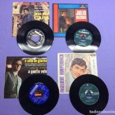 Discos de vinilo: LOTE DE 4 SINGLES, JULIO IGLESIAS; ENGEBERT; JON FOSTER; JEAN PAUL CARA. Lote 206917041