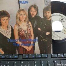 Discos de vinilo: ABBA SINGLE PROMOCIONAL HEAD OVER HEELS ESPAÑA 1982 EN PERFECTO ESTADO. Lote 206929336