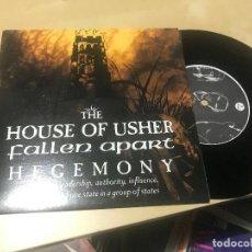 Discos de vinilo: HOUSE OF USHER / FALLEN APART - HEGEMONY - SINGLE EP EQUINOXE 2004 DARKWAVE GOTH ROCK. Lote 206929515