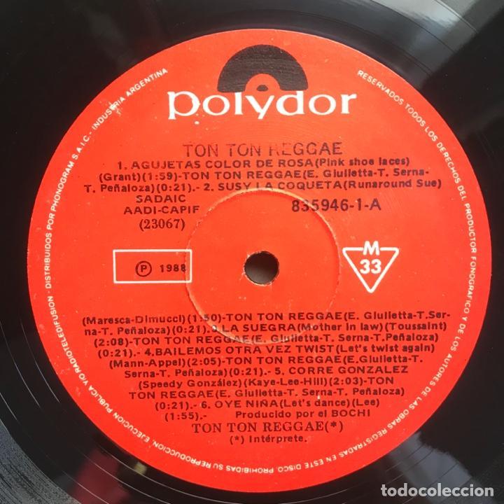 Discos de vinilo: ton ton reggae ARGENTINA 1988 - Foto 3 - 206933222