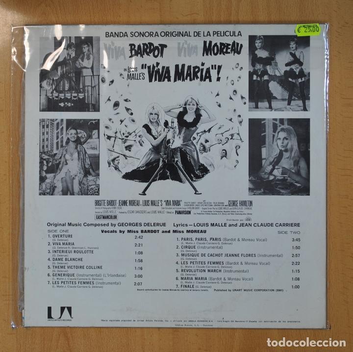 Discos de vinilo: GEORGES DELERUE - ¡VIVA MARIA! - BSO - LP - Foto 2 - 206935646