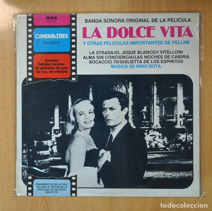 NINO ROTA - LA DOLCE VITA Y OTRAS PELICULAS IMPORTANTES DE FELLINI - BSO - LP (Música - Discos - LP Vinilo - Bandas Sonoras y Música de Actores )