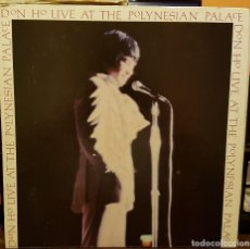 Discos de vinilo: DON HO LIVE AT THE POLINESIAN PALACE - MADE IN USA. Lote 206940371