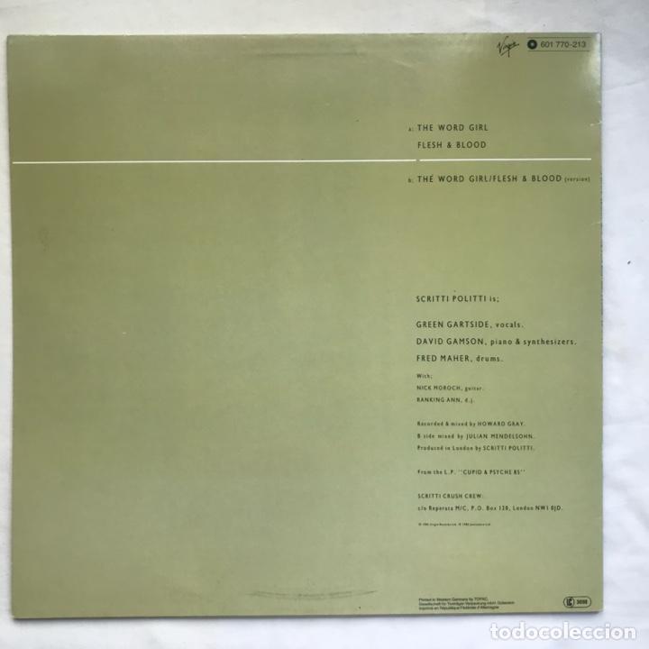 Discos de vinilo: Scritti Politti With Ranking Ann ?– The Word Girl (Flesh & Blood) - Foto 2 - 206942330