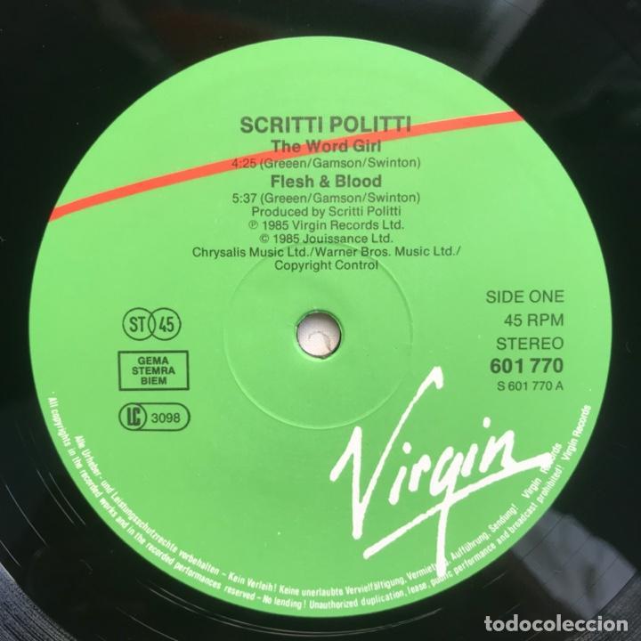 Discos de vinilo: Scritti Politti With Ranking Ann ?– The Word Girl (Flesh & Blood) - Foto 3 - 206942330