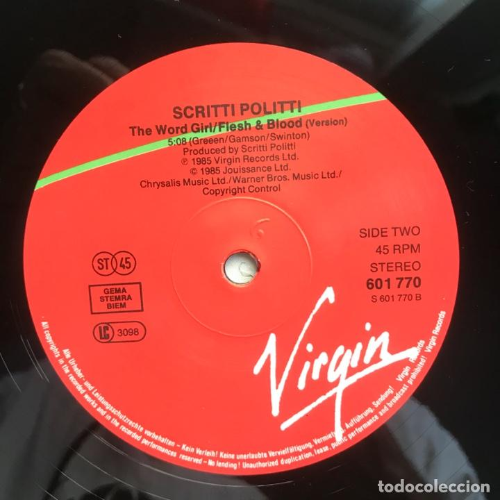 Discos de vinilo: Scritti Politti With Ranking Ann ?– The Word Girl (Flesh & Blood) - Foto 4 - 206942330
