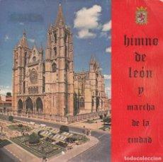 Discos de vinilo: HIMNO DE LEON Y MARCHA DE LA CIUDAD - PATROCINA AYUNTAMIENTO DE LEON. Lote 206944843