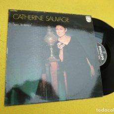 Discos de vinilo: LP CATHERINE SAUVAGE – AVEC LE TEMPS - PHILIPS 6332 024 - FRANCE PRESS - 1971 (EX+/M-)Ç. Lote 206947905