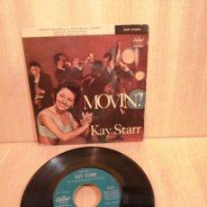Discos de vinilo: KAY STARR. MOVIN'!. EP 1960. Lote 206953331