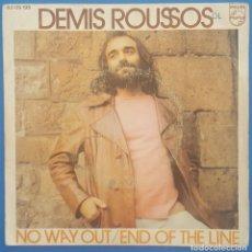 Discos de vinilo: SINGLE / DEMIS ROUSSOS / NO WAY OUT - END OF THE LINE / PHILIPS 1972. Lote 206955427