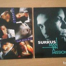Discos de vinilo: 2 MAXI SURKUS HIGHER MAN ON A MISSION. Lote 206957241