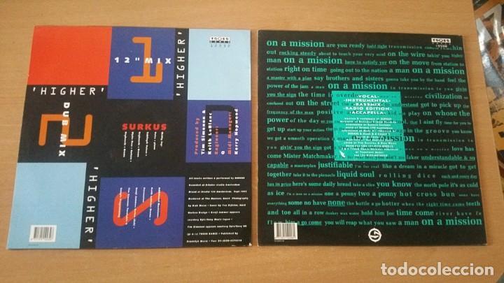 Discos de vinilo: 2 MAXI SURKUS HIGHER MAN ON A MISSION - Foto 2 - 206957241