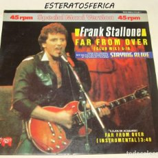 Discos de vinilo: FRANK STALLONE - FAR FROM OVER - RSO - 815 348-1 SPAIN. Lote 206957948