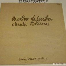 Discos de vinilo: MAXIME LE FORESTIER – CHANTE BRASSENS SELLO: POLYDOR – 2393 244 FORMATO: VINYL, LP, ALBUM PAÍS: FR. Lote 206958248