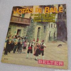 Discos de vinilo: JOTAS DE BAILE . MARÍA DEL PILAR DEL REAL / GENARO DOMÍNGUEZ / LORENZO NAVASCUES. Lote 206959212