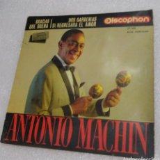 Discos de vinilo: ANTONIO MACHÍN - GRACIAS + 3. Lote 206959580