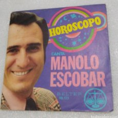 Discos de vinilo: MANOLO ESCOBAR - HORÓSCOPO. Lote 206959698