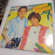 Discos de vinilo: ANTONIO Y CARMEN - SOPA DE AMOR. Lote 206962043