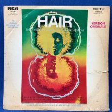 Discos de vinilo: LP MICHAEL BUTLER - HAIR - THE AMERICAN TRIBAL LOVE - ROCK - FRANCIA - AÑO 1969 - PORTADA ROTA. Lote 206972407
