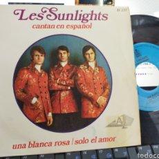 Discos de vinilo: LES SUNLIGHTS CANTAN EN ESPAÑOL UNA BLANCA ROSA ESPAÑA 1968 EN PERFECTO ESTADO. Lote 206983223