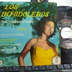 Discos de vinilo: LOS BANDOLEROS THE HIGHWAYMEN EP PLANTACIÓN DE ALGODÓN + 3 ESPAÑA 1961. Lote 206984707