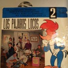 Discos de vinilo: LOS PÁJAROS LOCOS IMPROVISAN WALKING IN THE RAIN. EP. Lote 206988296