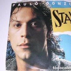 Discos de vinilo: PAULO GONZO STAY / ALL OVER THE WORLD SINGLE 1987. Lote 206989307