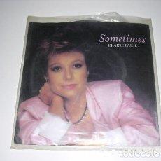Discos de vinilo: SOMETIMES ELAINE PAIGE. Lote 206990016