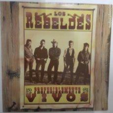 Discos de vinilo: LOS REBELDES- PREFERIBLEMENTE VIVOS - 2 LP 1987 - VINILOS COMO NUEVOS.. Lote 206990137