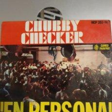 Discos de vinilo: CHUBBY CHECKER. EN PERSONA. ESCRÍBELE. EP. Lote 206996167