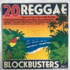 Discos de vinilo: 20 REGGAE BLOCKBUSTERS 2LPS MUY NUEN DISCO. Lote 207000643