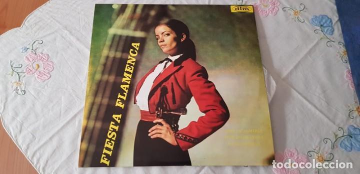 FIESTA FLAMENCA - AMALIA ROMÁN / PEPE DE ALMERÍA - LP. DEL SELLO DIM RECORD DE 1968 (Música - Discos - LP Vinilo - Flamenco, Canción española y Cuplé)