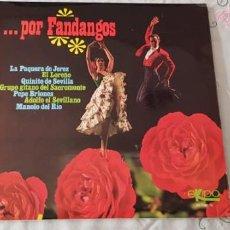 Discos de vinilo: POR FANDANGOS EKIPO. Lote 207002212