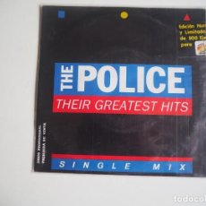 Discos de vinilo: POLICE ‎– THEIR GREATEST HITS - SINGLE MIX CADENA 40 PRINCIPALES ‎PROMOCIONAL EDICIÓN NUMERADA. Lote 207002225