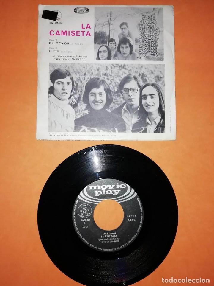 Discos de vinilo: LA CAMISETA. EL TENOR . LIES. MOVIE PLAY RECORDS 1970 - Foto 2 - 207003466