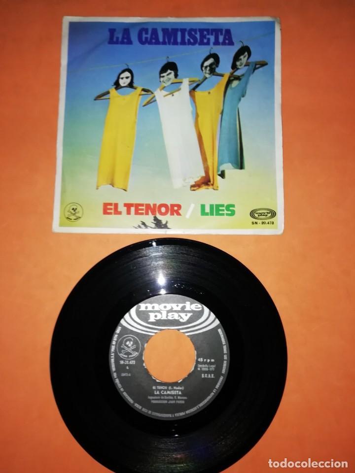 LA CAMISETA. EL TENOR . LIES. MOVIE PLAY RECORDS 1970 (Música - Discos - Singles Vinilo - Grupos Españoles de los 70 y 80)