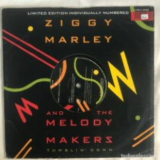 Discos de vinilo: ZIGGY MARLEY AND THE MELODY MAKERS TUMBLIN' DOWN LIMITE EDITTION. Lote 207004055