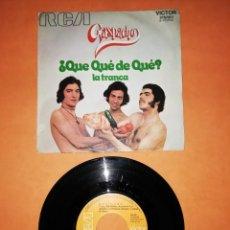 Discos de vinilo: GAZPACHO. ¿QUE DE QUE ? LA TRANCA. RCA VICTOR 1972. Lote 207007122