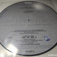 Discos de vinilo: MAXI - THE REAL THING VS. DAREN DEEZER – YOU TO ME ARE EVERYTHING - BIG 5270P-12 - NUEVO !!. Lote 207008350