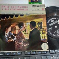Discos de vinilo: BAILE CON RUBINO Y SUS CONTINENTALES EP MARIE + 3 ESPAÑA 1961. Lote 207010478