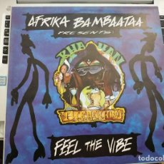 "Discos de vinilo: AFRIKA BAMBAATAA PRESENTS: KHAYAN & THE NEW WORLD POWER - FEEL THE VIBE (12"") 1994.COMO NUEVO. Lote 207012907"