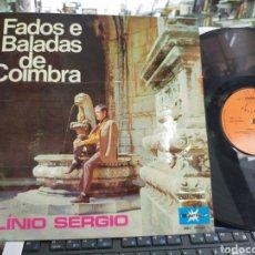 Discos de vinilo: PLINIO SERGIO LP FADOS E BALADAS DE COIMBRA ESPAÑA 1969. Lote 207015366