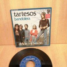 Discos de vinilo: TARTESOS. BANDOLERA. DESDE MI BALCÓN. 1974.. Lote 207016476