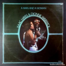 Discos de vinilo: ISAAC HAYES & DIONNE WARWICK - A MAN AND A WOMAN - DOBLE 2XLP 1977 GATEFOLD - ABC RECORDS. Lote 207026682