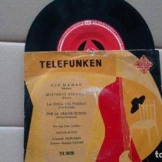 Discos de vinilo: E.P. (VINILO) DE LOS 3 DE CASTILLA Y JOSE LUIS DE UTIEL CON LA ORQUESTA TELEFUNKEN AÑOS 50. Lote 207032065