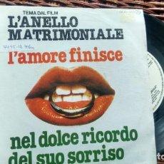 Discos de vinilo: SINGLE ( VINILO) -PROMOCION- DE LA BSO DE LA PELICULA L´ANELLO MATRIMONIALE AÑOS 70. Lote 207032628